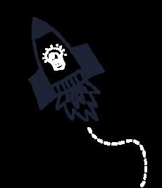 Rocket upwards